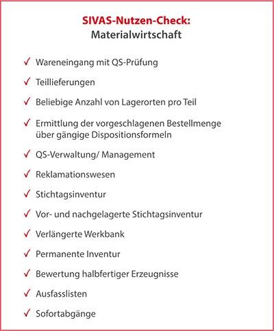 NC-Materialwirtschaft