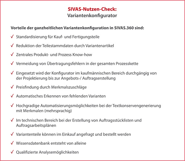 SIVAS Variantenkonfigurator