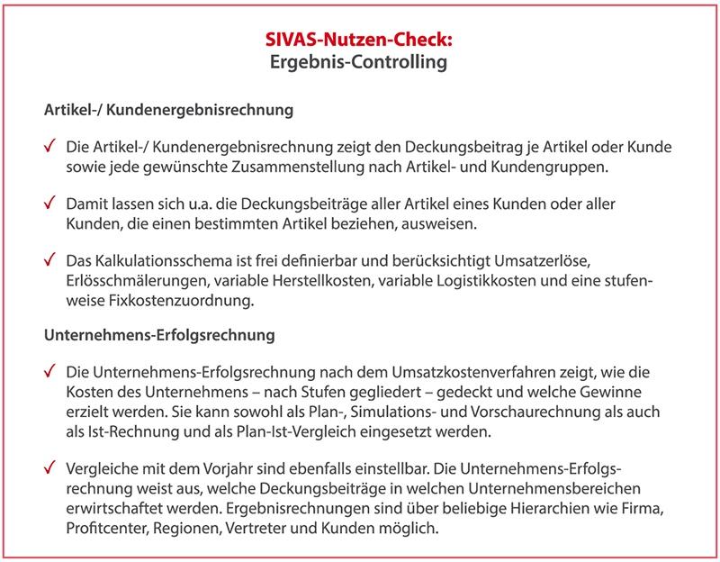 SIVAS Ergebnis-Controlling