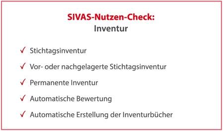 SIVAS Inventur