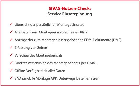 SIVAS Service Einsatzplanung