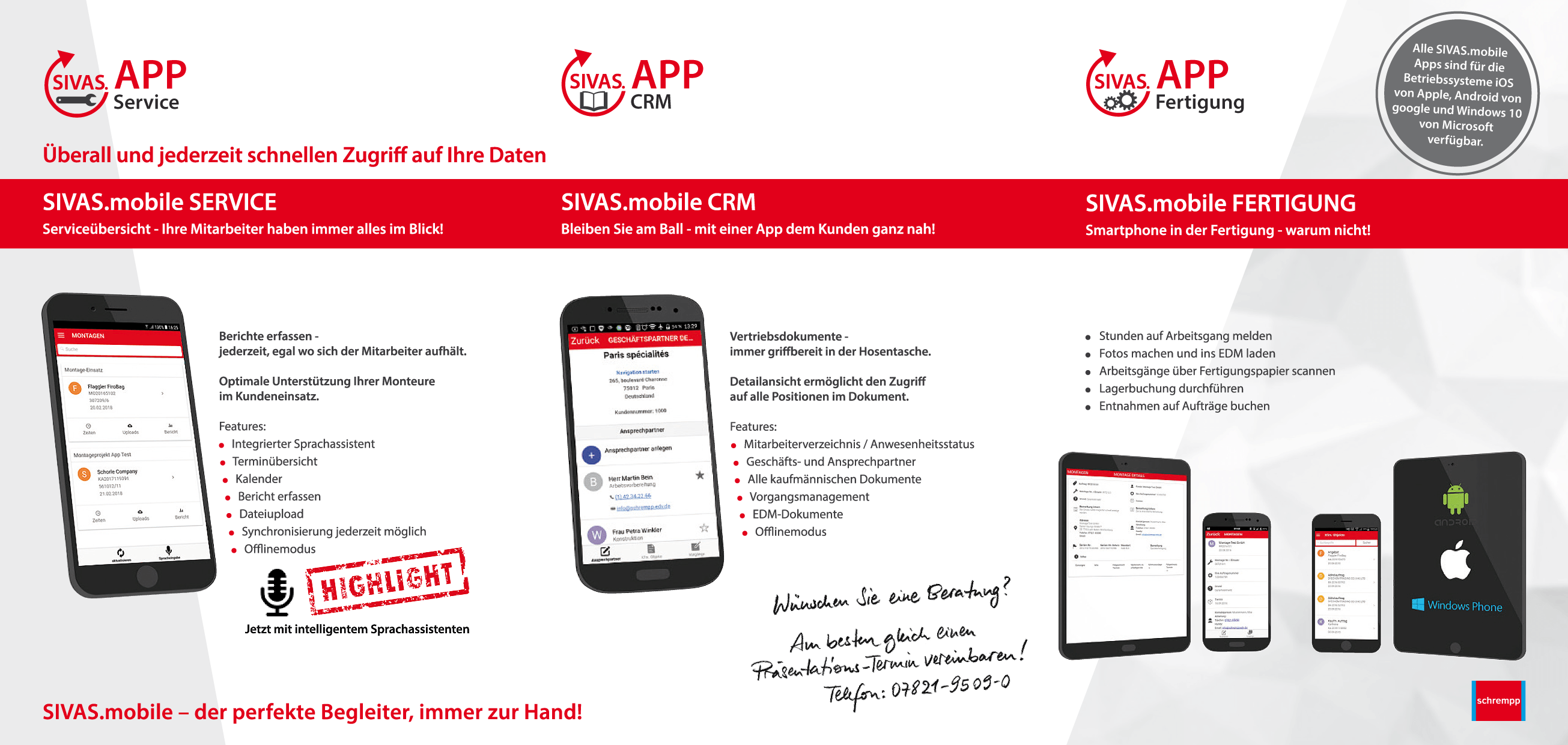 SIVAS mobile Prospekt Apps