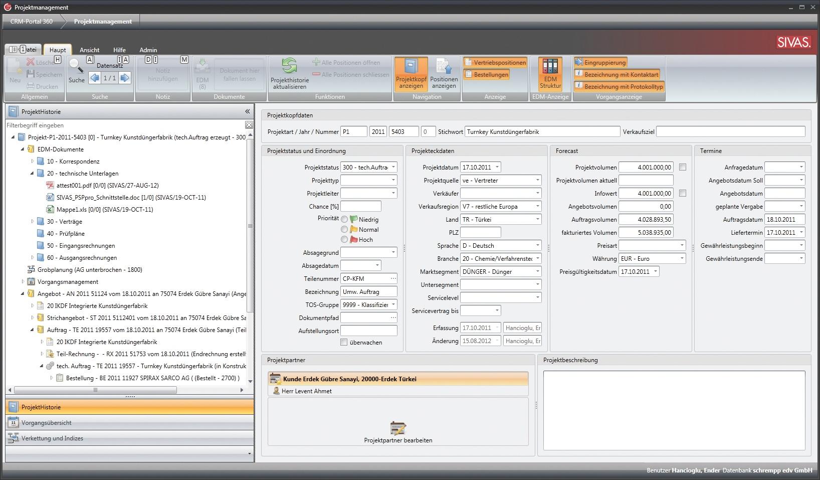 Projektierung bei SIVAS.ERP