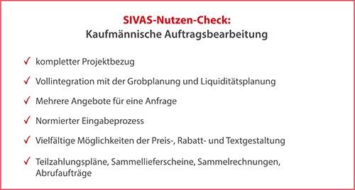 SIVAS kaufmännische Auftragsbearbeitung