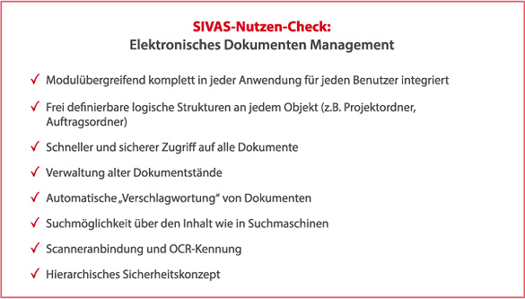 SIVAS elektronisches Dokumenten Management