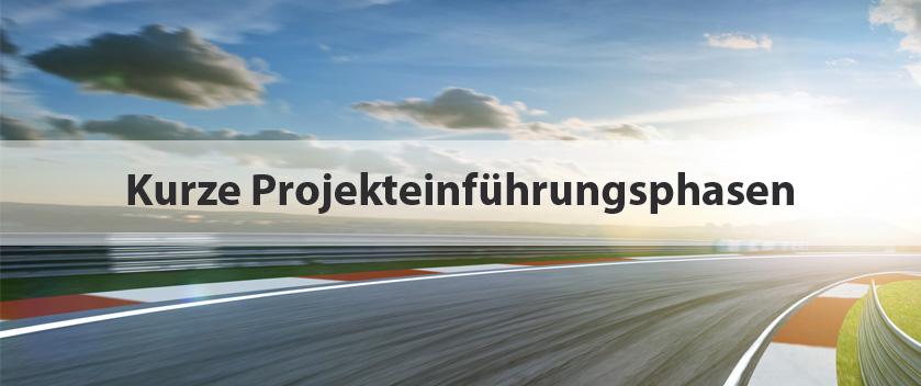 Slider-kurze Projekteinführungsphasen
