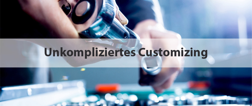 Slider-unkompliziertes Customizing