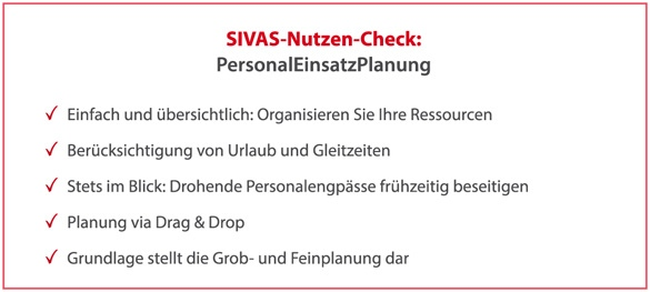 SIVAS PersonalEinsatzPlanung
