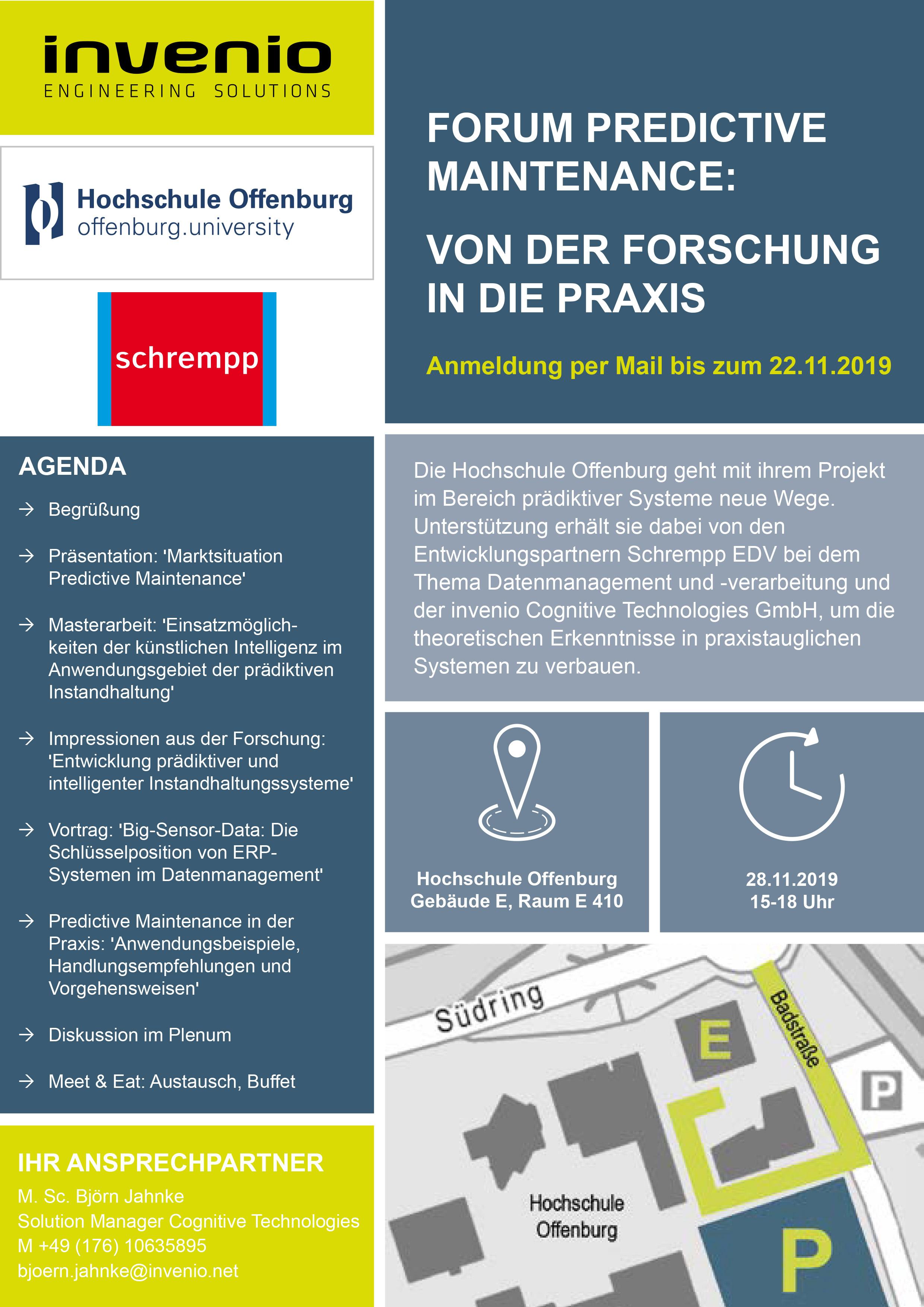 Forum Predictive Maintenance_28.11.2019_ Hochschule Offenburg